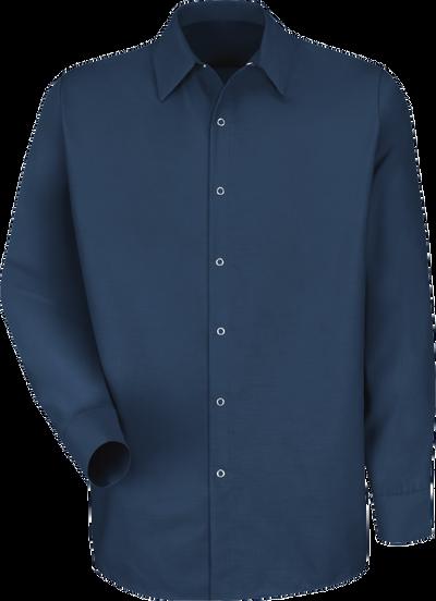 Men's Long Sleeve Specialized Pocketless Work Shirt