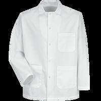 Gripper-Front Short Butcher Coat