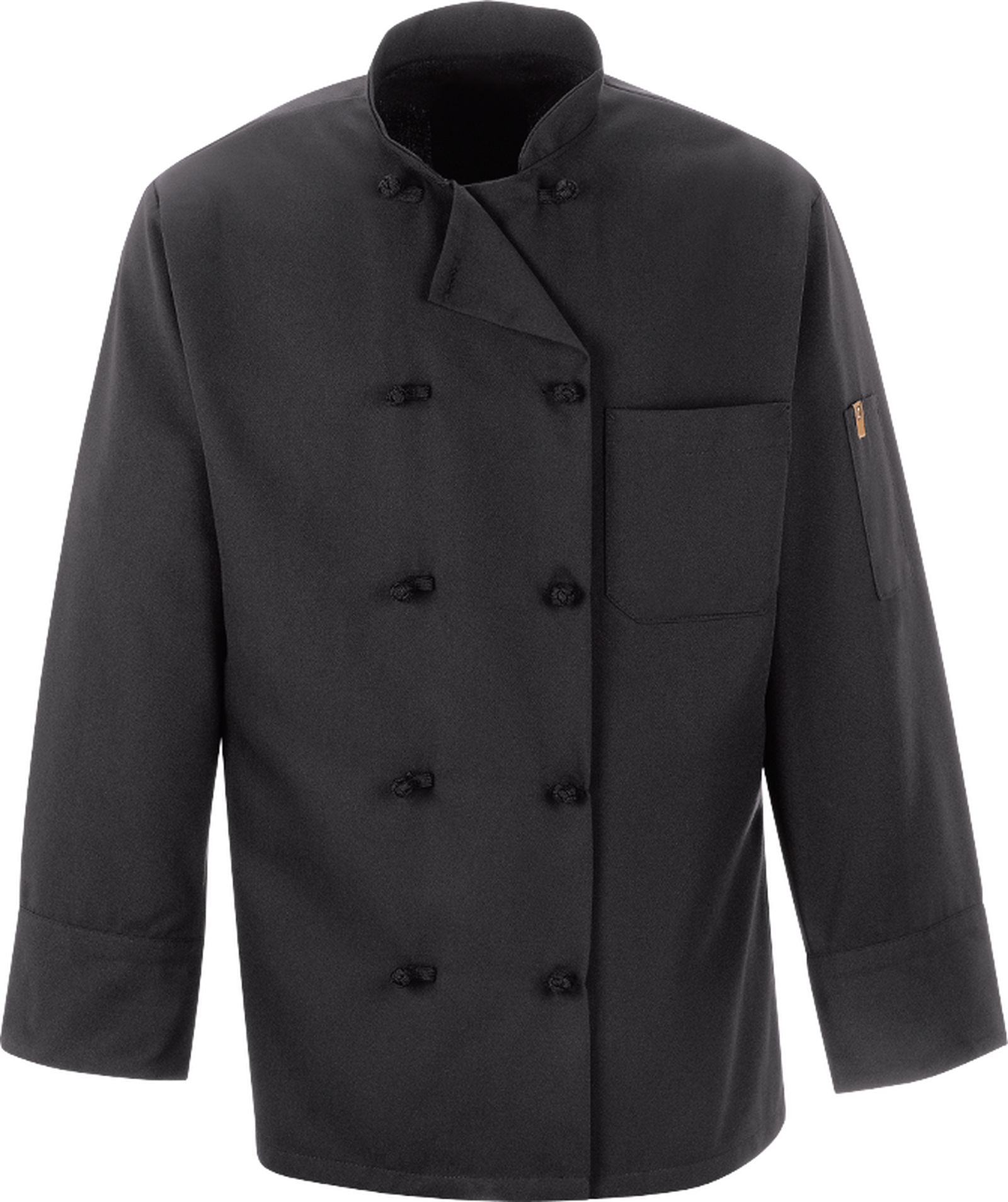 Chef Designs Black Chef Coat 10 Knot Buttons