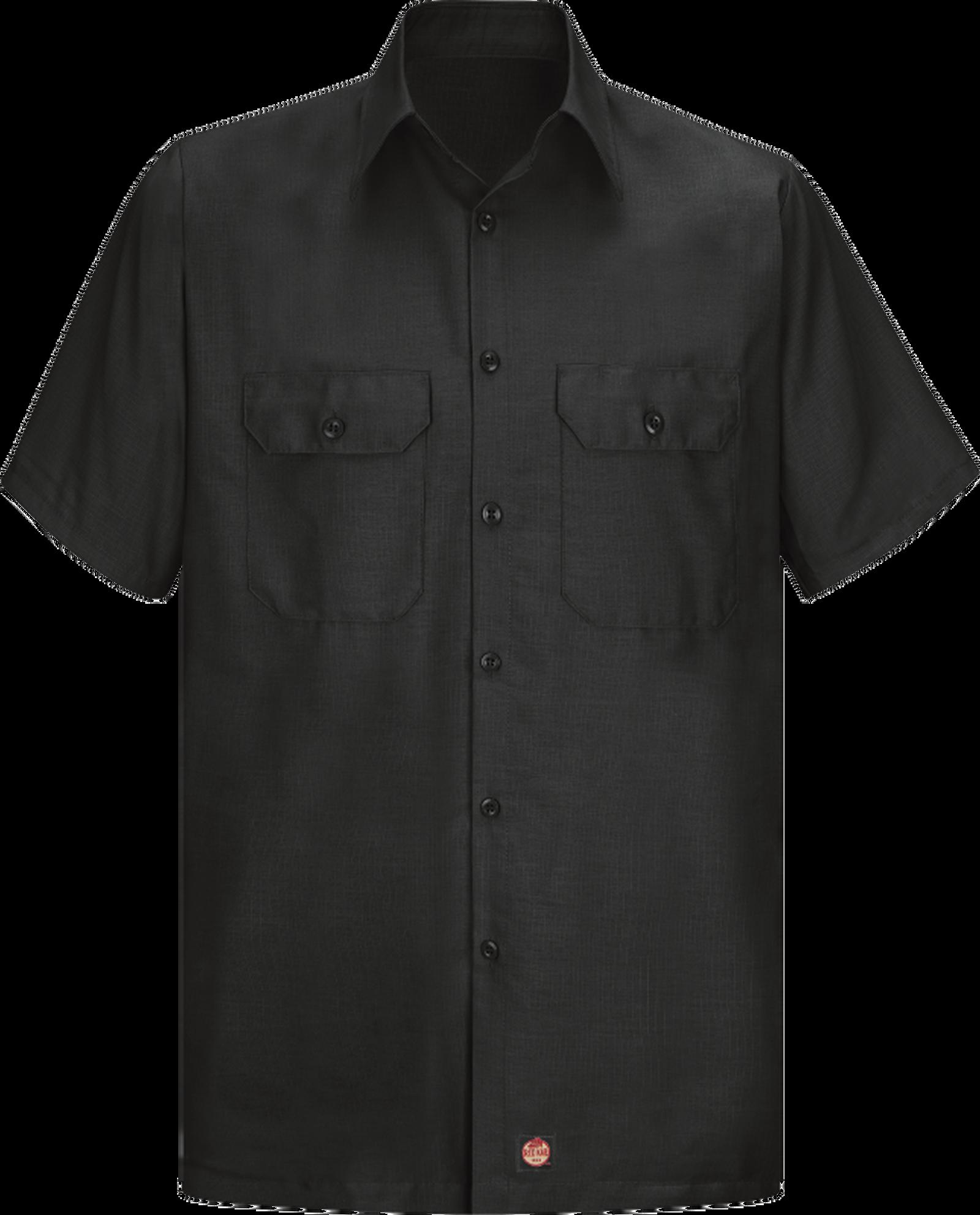 Men's Short Sleeve Solid Rip Stop Shirt