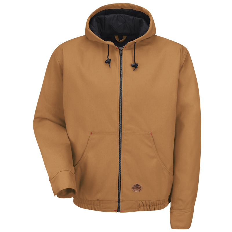 Blended Duck Zip-Front Hooded Jacket