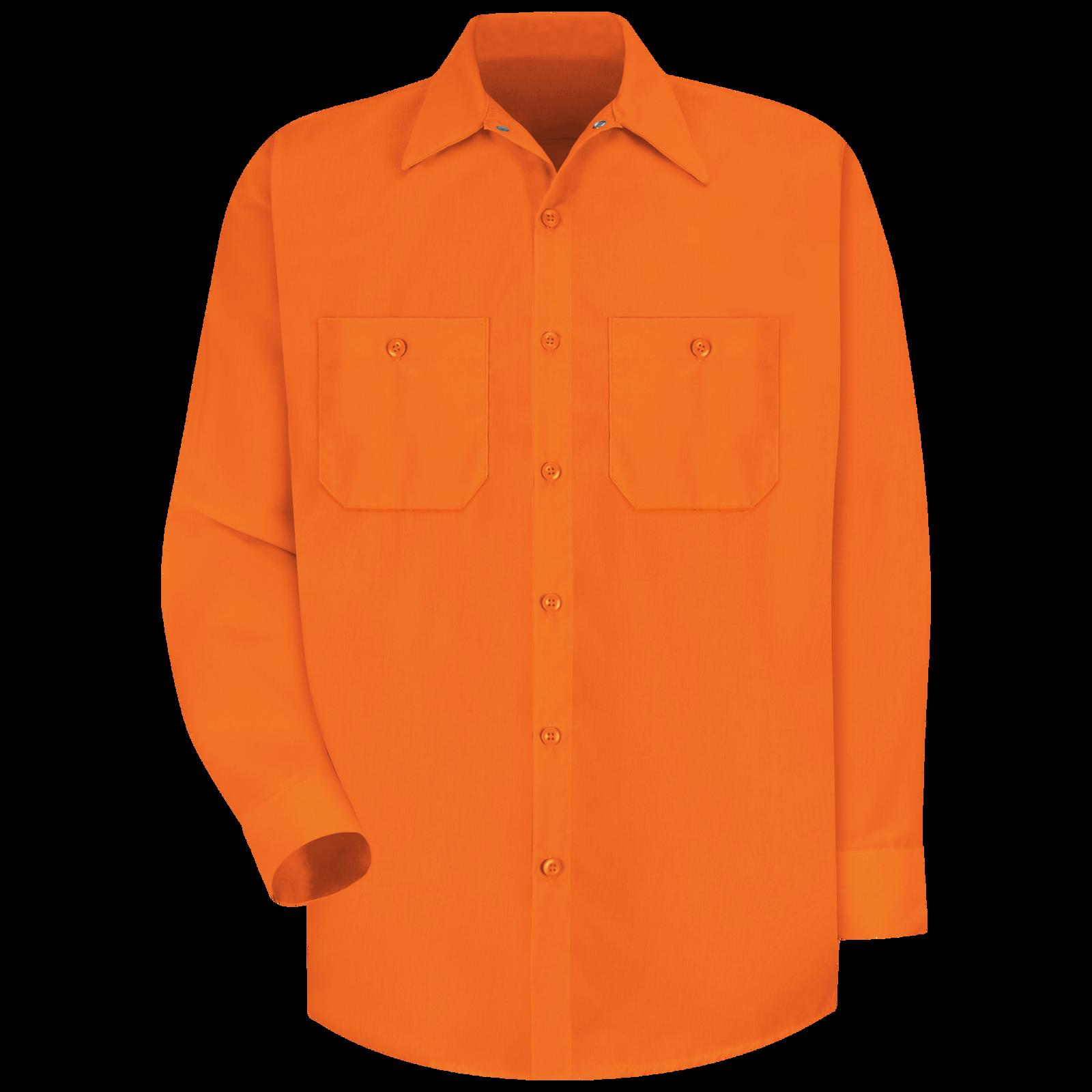 Details about  /Red Kap Mechanic Long Sleeve Shirt Gray /& Orange XL and Large