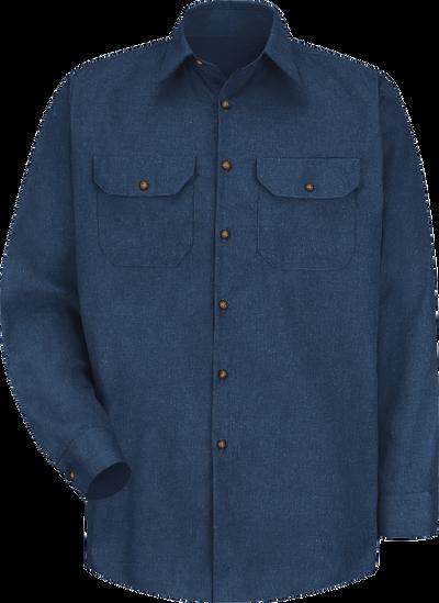 Men's Long Sleeve Heathered Poplin UniformShirt