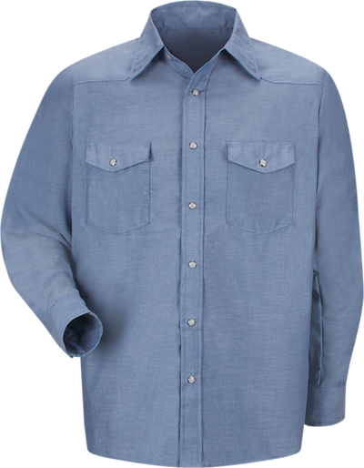Men's Long Sleeve Deluxe Western Style Shirt