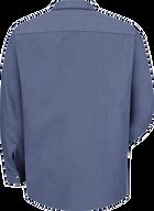 Men's Long Sleeve Geometric Microcheck Work Shirt