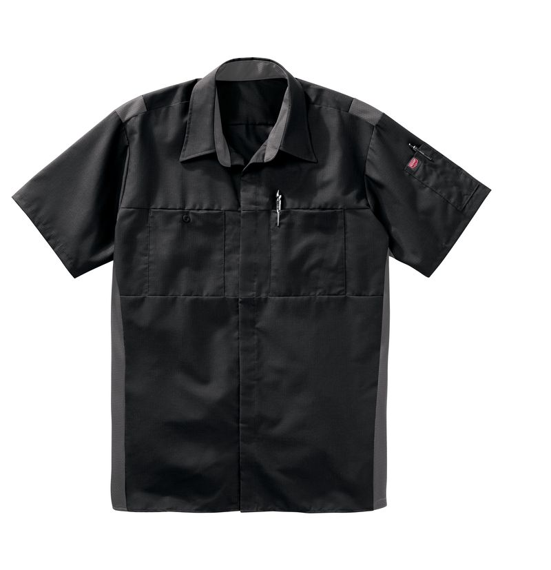 Men's Short Sleeve Performance Plus Shop Shirt with OilBlok Technology