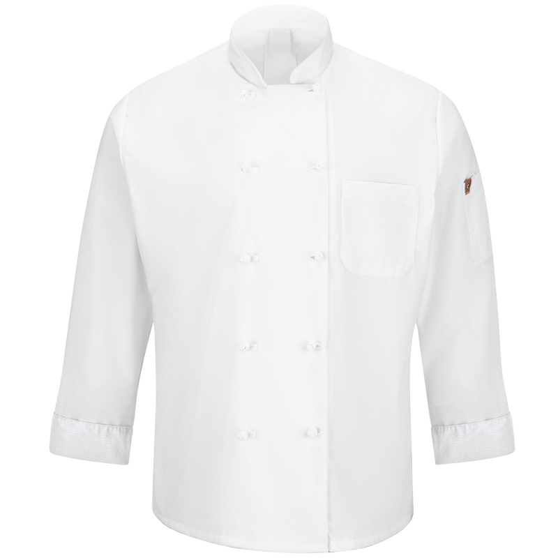 Chef Designs Men's Ten Knot Button Chef Coat with MIMIX™ and OilBlok
