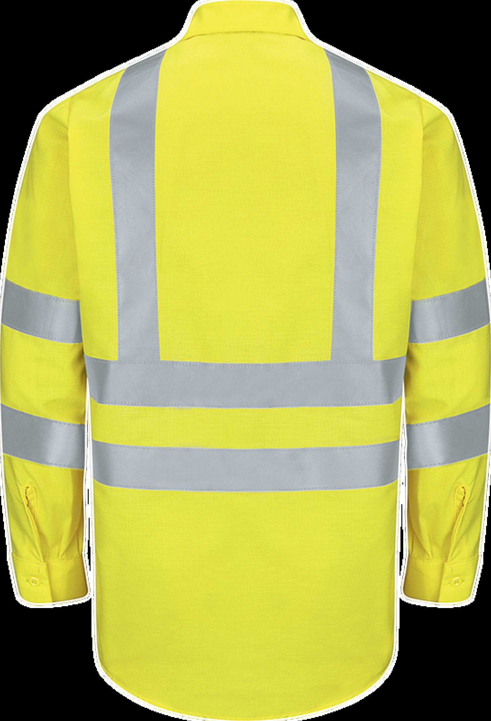 Men's Hi-Visibility Long Sleeve Ripstop Work Shirt - Type R, Class 3