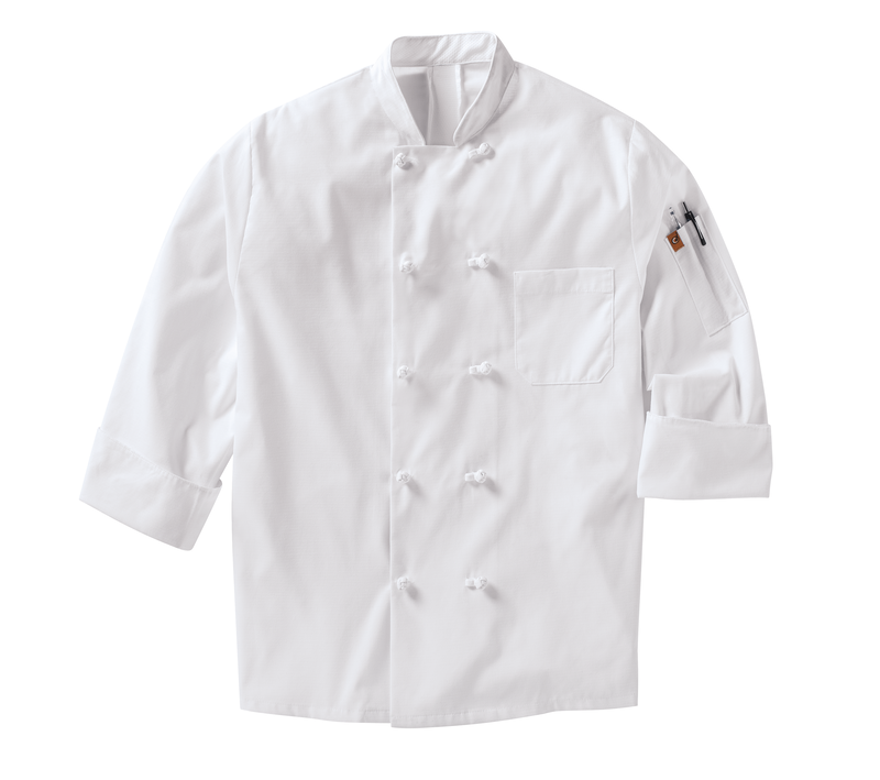 Chef Designs Men's Ten Knot Button Chef Coat with MIMIX™ and OilBlok