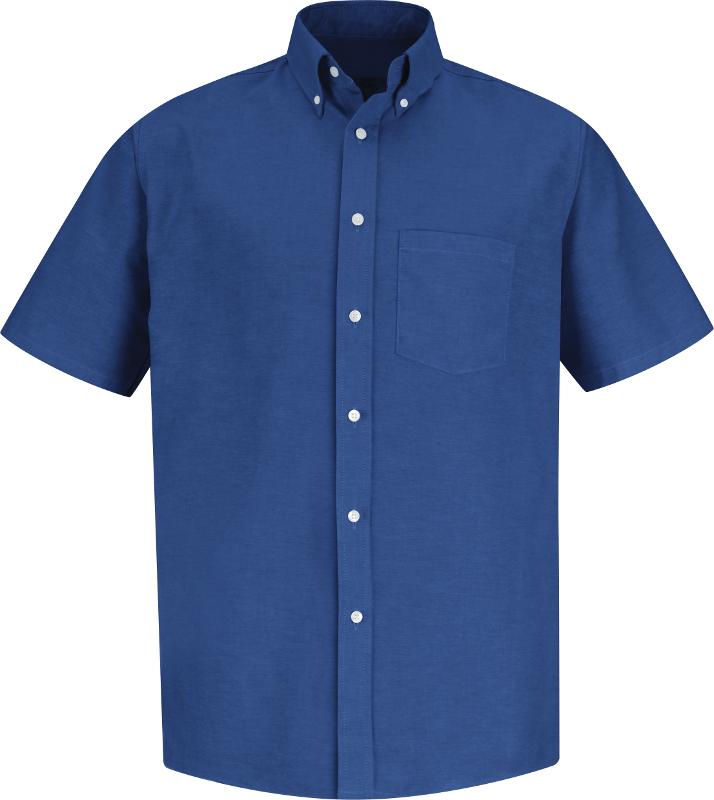 White Short Sleeve Red Kap Mens Executive Oxford Dress Shirt 4X-Large//Tall