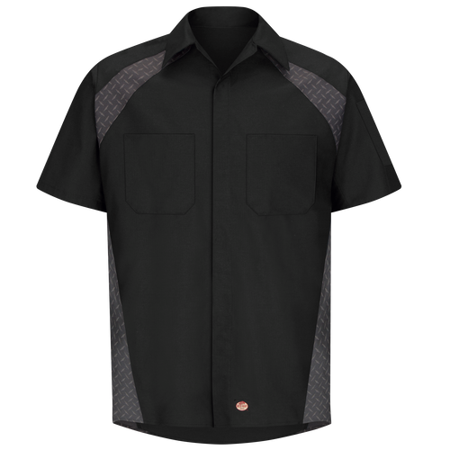Men's Short Sleeve Diamond Plate Shop Shirt