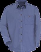 Men's Long Sleeve Mini-Plaid Uniform Shirt