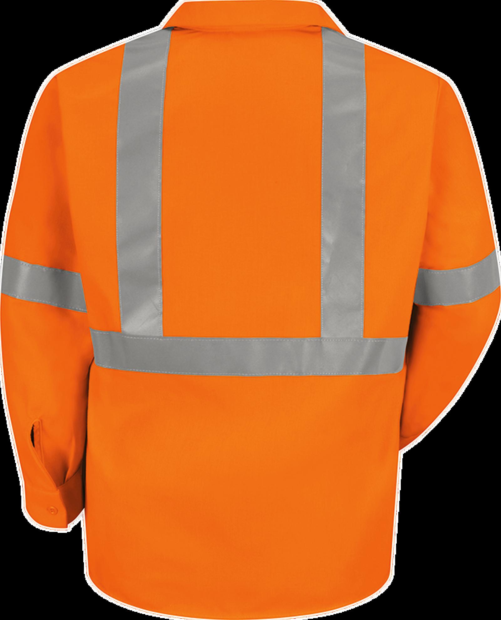 Men's Hi-Visibility Long Sleeve Work Shirt - Type R, Class 2