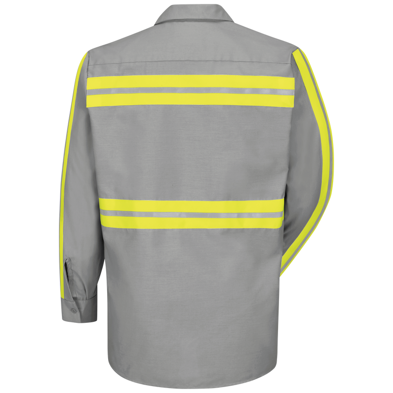 Long Sleeve Enhanced Visibility Industrial Work Shirt