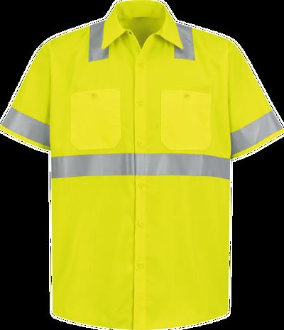 Men's Hi-Visibility Short Sleeve Work Shirt - Type R, Class 2