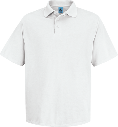 Men's Short Sleeve Spun Polyester Pocketless Polo