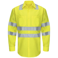 Men's Hi-Visibility Long Sleeve Ripstop Work Shirt - Type R, Class 3