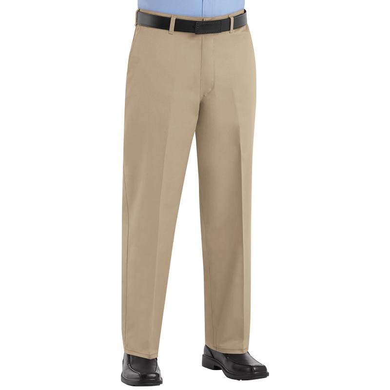 Men S Plain Front Cotton Pant Red Kap