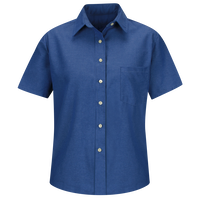 Women's Short Sleeve Oxford Dress Shirt