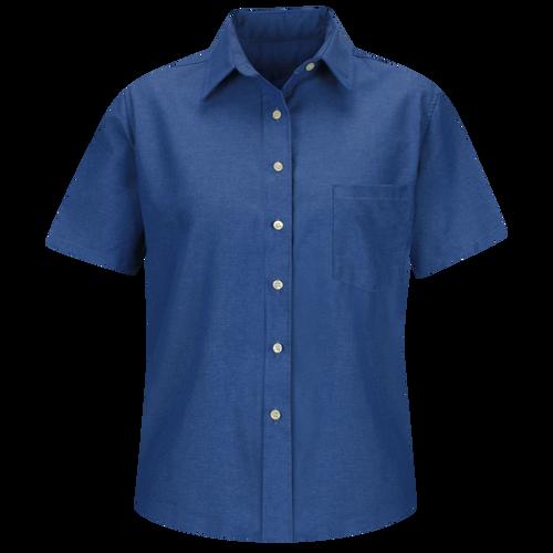 Women's Short Sleeve Oxford Dress Shirt