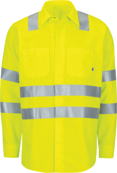 Long Sleeve Hi-Visibility Ripstop Work Shirt with MIMIX™ + OilBlok, Type R Class 3
