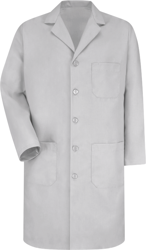 Red Kap Mens White Lab Coat