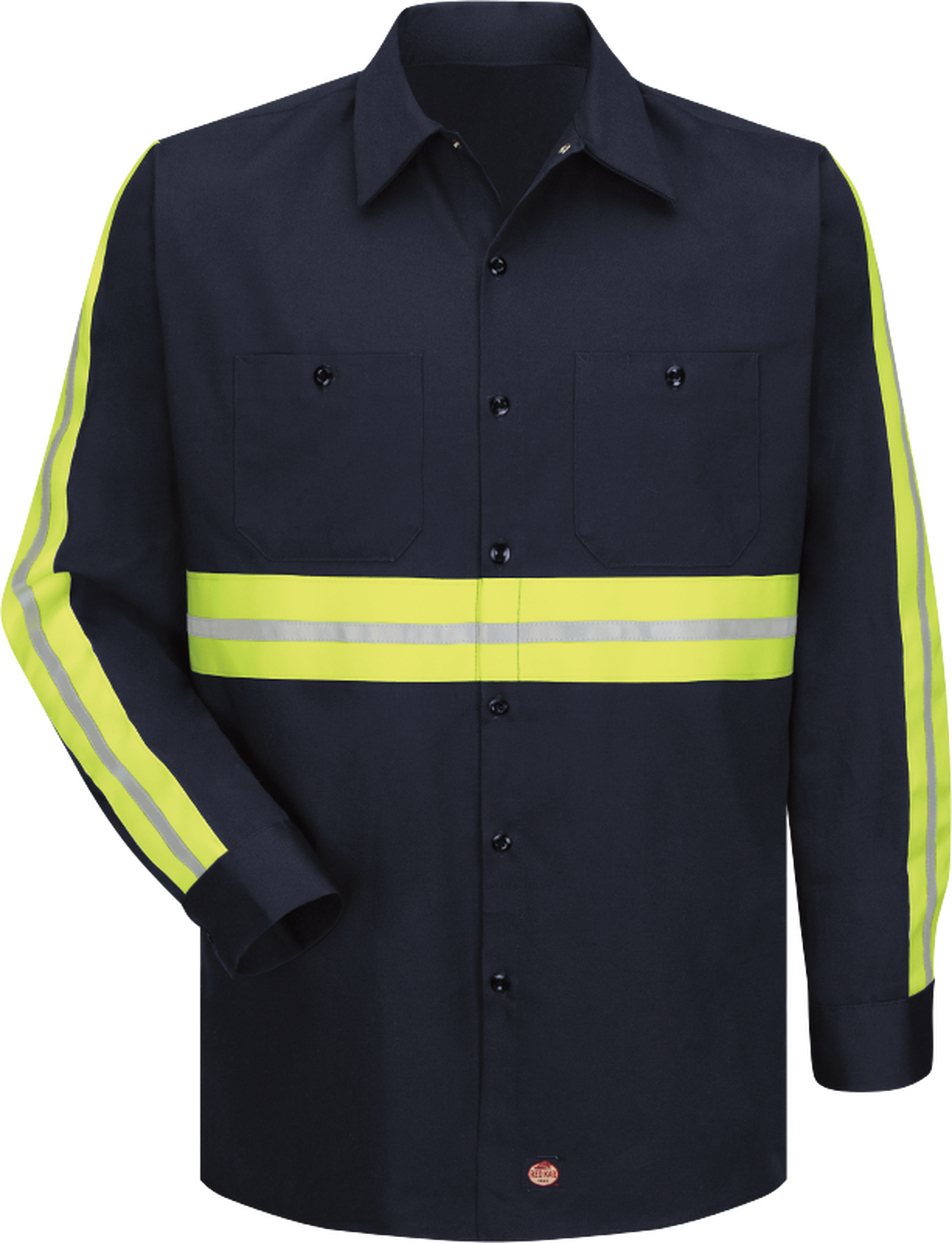 Long Sleeve Enhanced Visibility Cotton Work Shirt