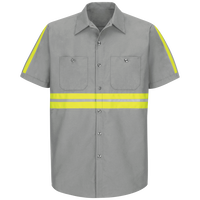Short Sleeve Enhanced Visibility IndustrialWork Shirt