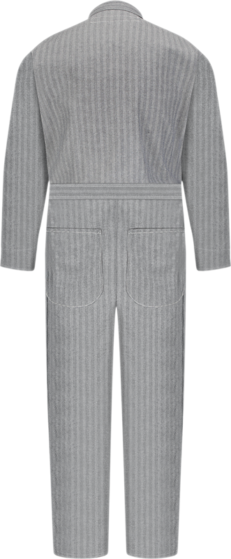 SNAP FRONT WHITE COTTON COVERALLS SIZE 46 LONG