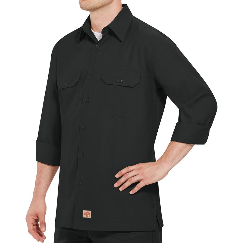 Men's Long Sleeve Solid Rip Stop Shirt