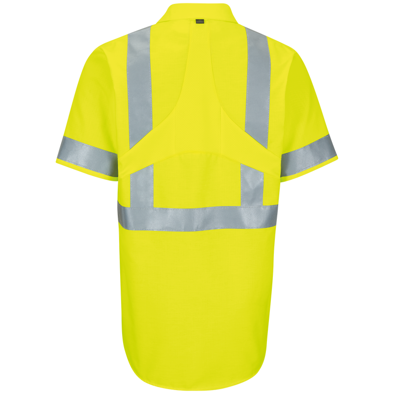 Short Sleeve Hi-Visibility Ripstop Work Shirt with MIMIX™ + OilBlok, Type R Class 2