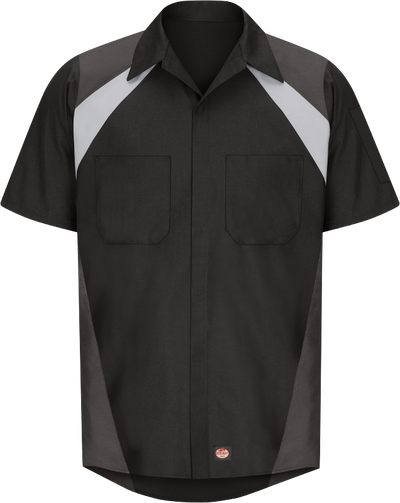 Men's Short Sleeve Tri-Color Shop Shirt