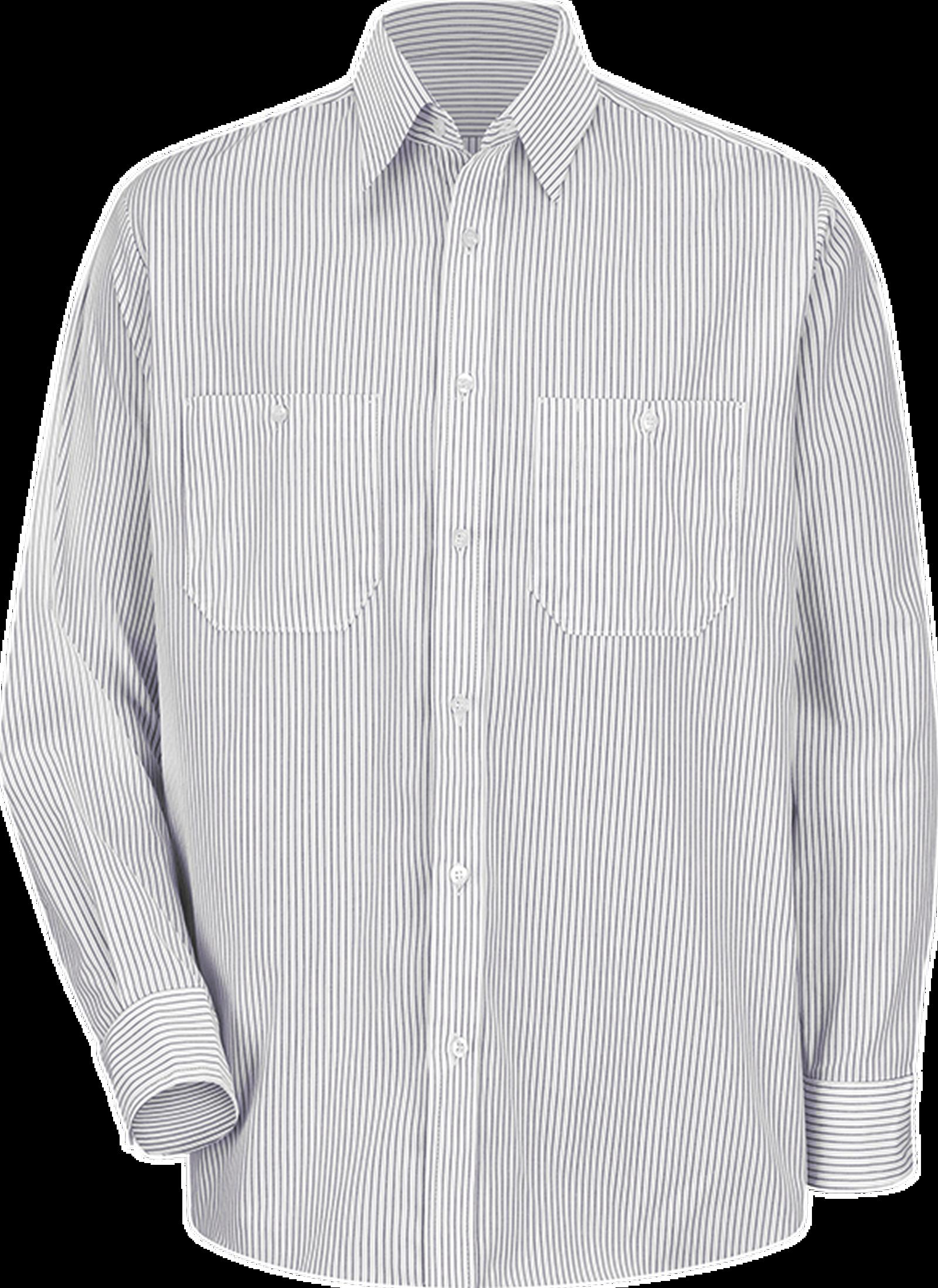 00aea590 Men's Long Sleeve Striped Dress Uniform Shirt| RedKap US