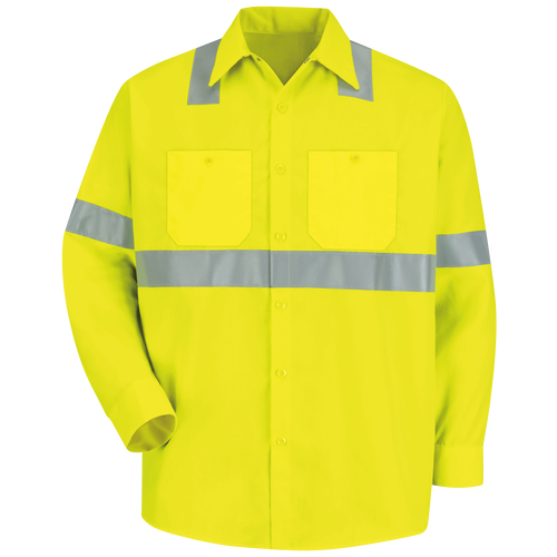 Men's Hi-Visibility Long Sleeve Work Shirt - Type R, Class 2