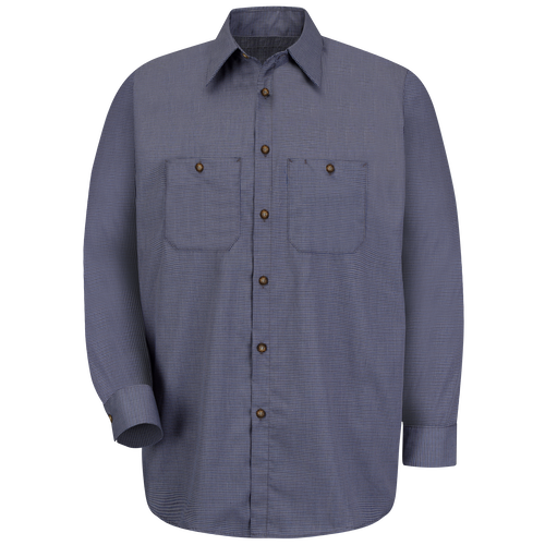 Men's Long Sleeve Microcheck Uniform Shirt