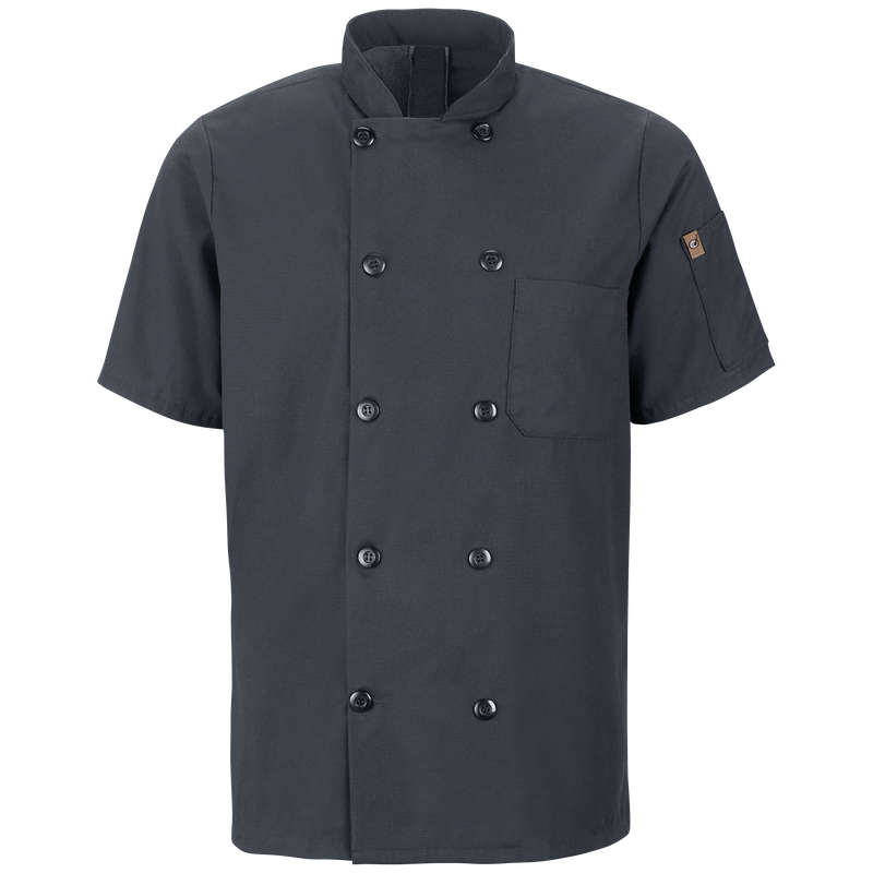 Men's Short Sleeve Chef Coat with OilBlok + MIMIX™