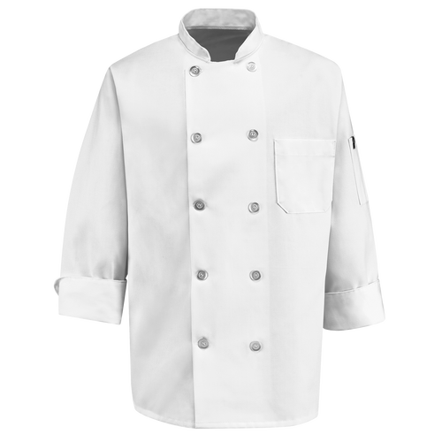 Ten Pearl Button Chef Coat