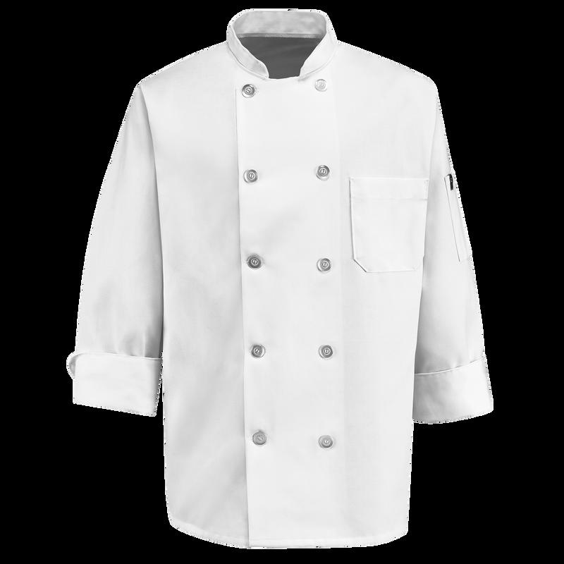 Ten Pearl Button Chef Coat