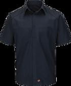 Men's Short Sleeve Striped Color Block Shirt
