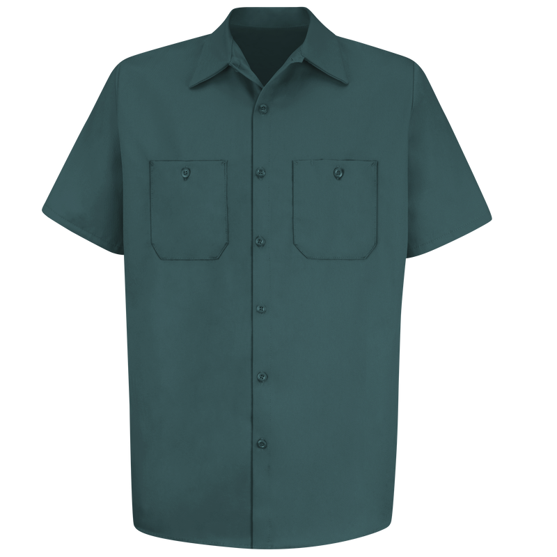 Men's Short Sleeve Wrinkle-Resistant Cotton Work Shirt