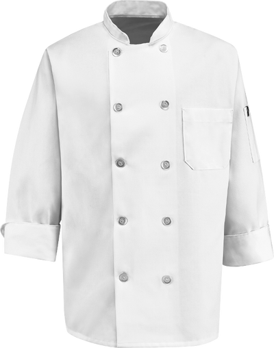 Chef Designs Ten Pearl Button Chef Coat
