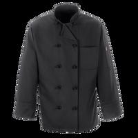 Black Chef Coat Ten Knot Buttons
