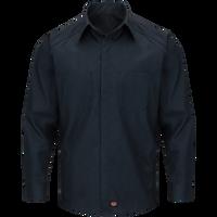 Men's Long Sleeve Striped Color Block Shirt