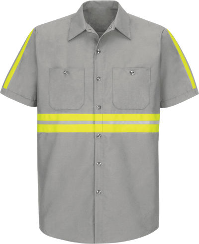 Short Sleeve Enhanced Visibility Industrial Work Shirt