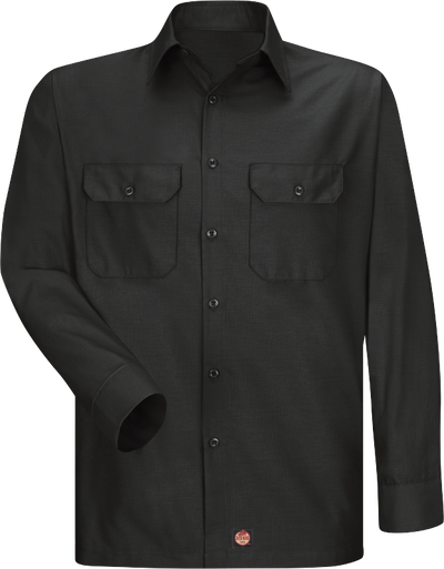 Men's Long Sleeve Solid Rip Stop Shirt