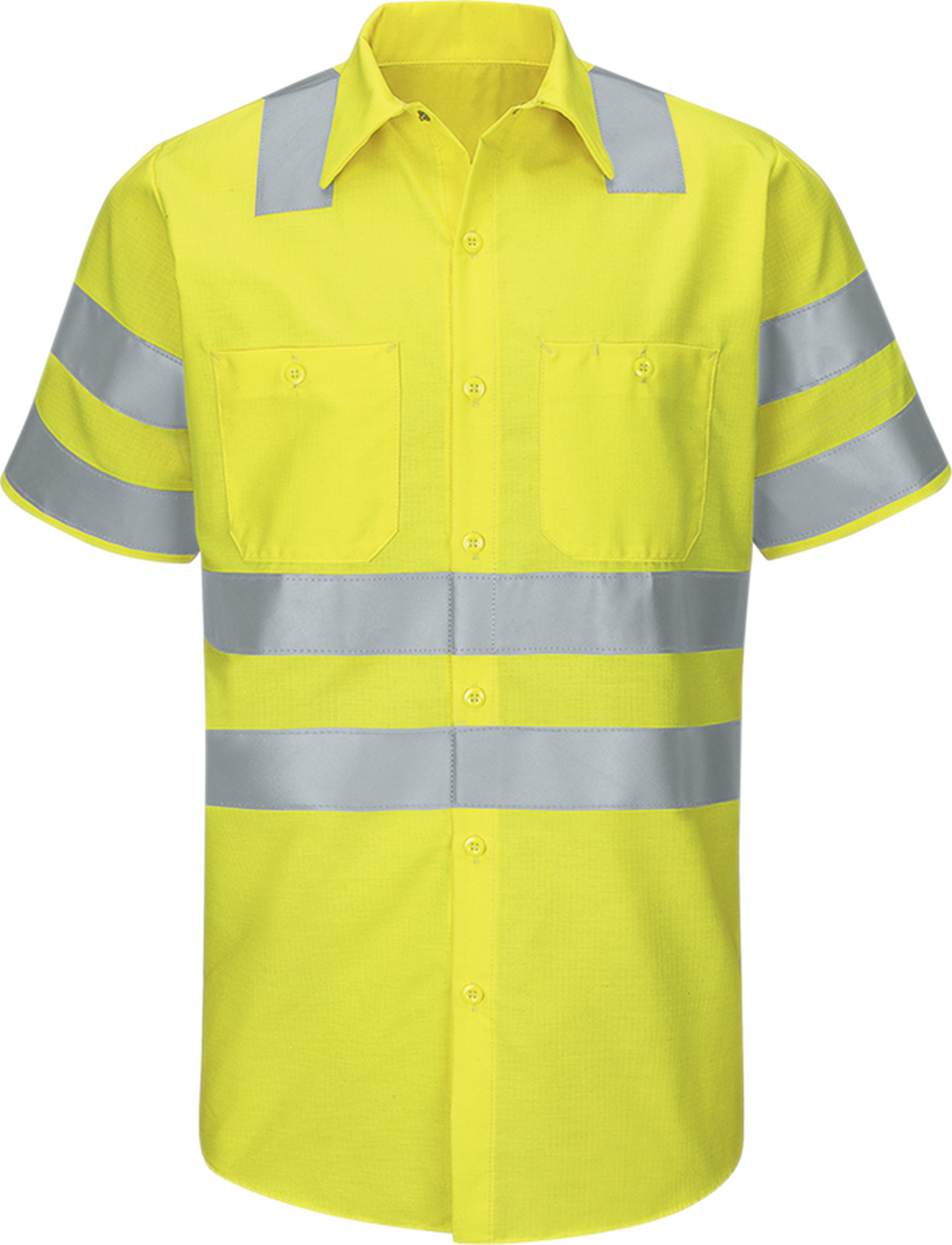 Men's Hi-Visibility Short Sleeve Ripstop Work Shirt - Type R, Class 3