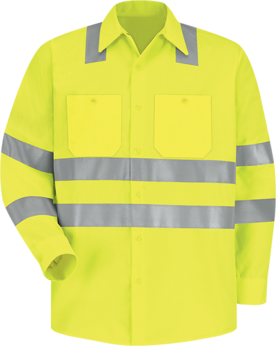 Men's Hi-Visibility Long Sleeve Work Shirt - Type R, Class 3