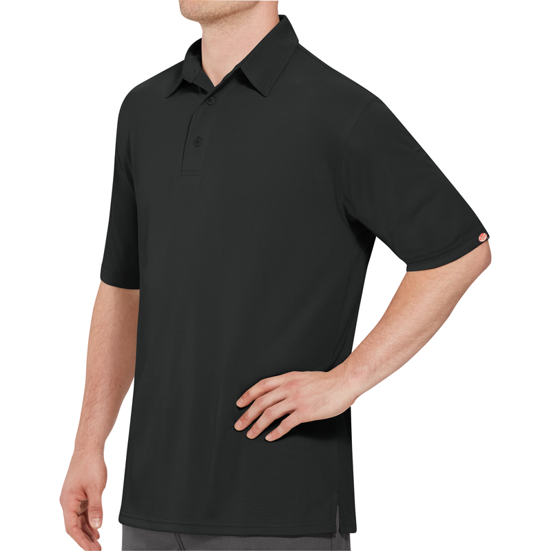 Men S Short Sleeve Performance Knit Flex Series Pro Polo Red Kap