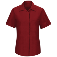 Women's Short Sleeve Performance Plus Shop Shirt with OilBlok Technology