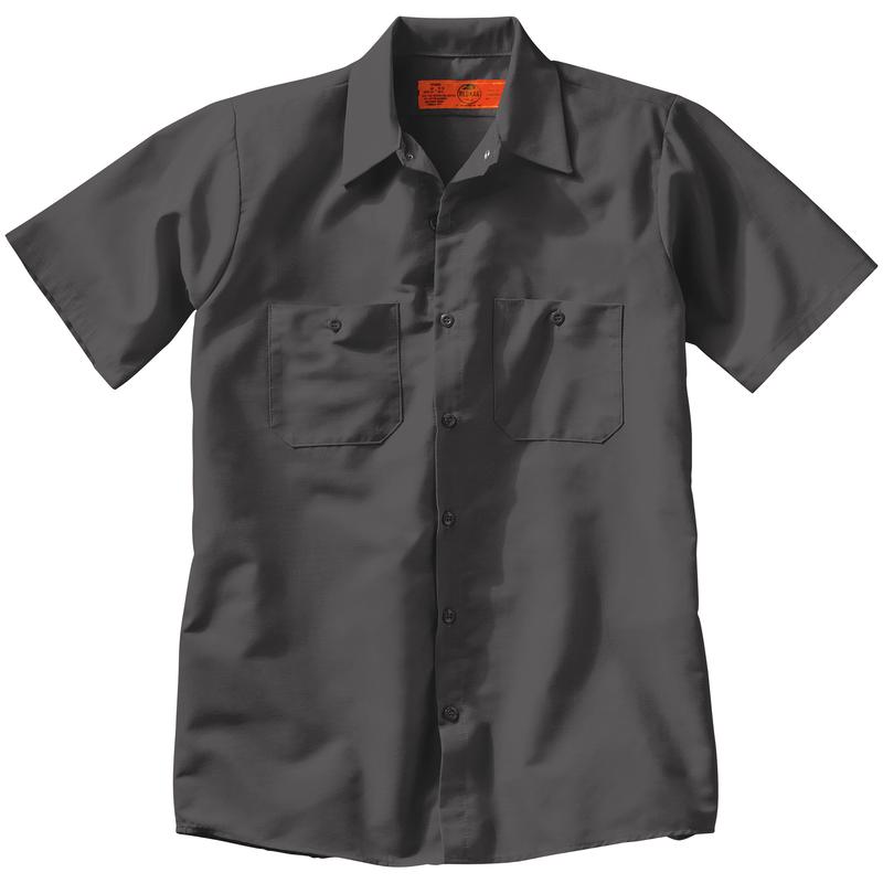 Red Kap Mens Short Sleeve Industrial Work Shirt Work Utility Button Down Shirt